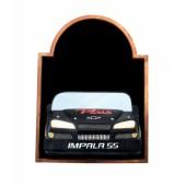 Angebotstafel mit Chevy Impala Schwarz