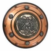 Antikes Schild mit Medusa Bronze