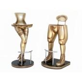 Sexy Frauenbeine und Footballspieler Beine Barhocker Gold