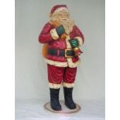 Weihnachtsmann mit Glocke XXL