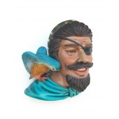 Piratenkopf mit Papagei