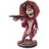 Löwe als Butler