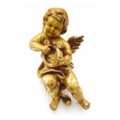 Engelputto mit Harfe