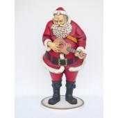 Weihnachtsmann spielt auf Gitarre