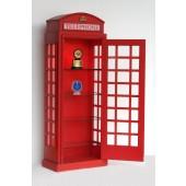 Halbe Londoner Telefonzelle als Wandvitrine