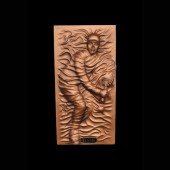 Tennisspieler als bronzefarbende Wandtafel