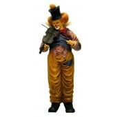 Clown mit stehend mit Geige