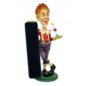 Clown mit Angebotstafel