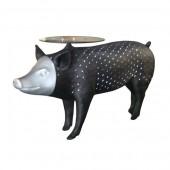 Schwarzes Schwein als Beistelltisch
