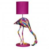 bunter Flamingo als Stehlampe