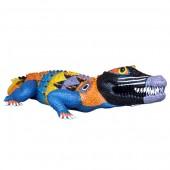 bunt bemaltes Krokodil