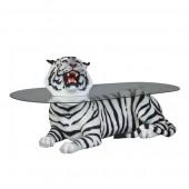 liegender Tiger schwarz weiß als Couchtisch