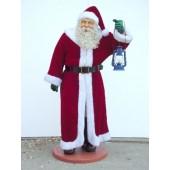 Weihnachtsmann mit Stoffmantel naturgetreu