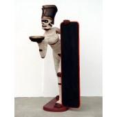 Mumie Butler mit Menütafel