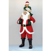 Weihnachtsmann mit Elfin