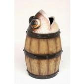 Abfalleimer Fass mit Fisch