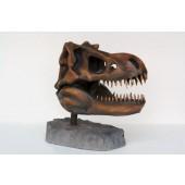 T-Rex Kopf als Skelett