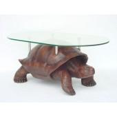 Schildkröte mit Glastischplatte