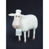 Lustiges Comic Schaf mit Schild