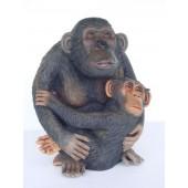 Affe mit Baby klein