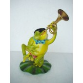 Frosch mit Trompete