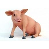 Ferkel das Schwein sitzend