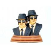 Blues Brothers Büsten mit Sonnenbrillen