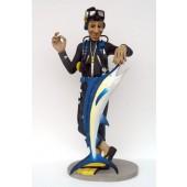 Taucher mit Blue Marlin
