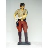 Policeman mit Waffe