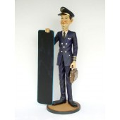 Pilot mit Angebotstafel