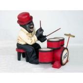 Lustiger Jazz Schlagzeuger