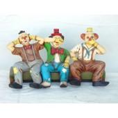 Clowns auf Bank