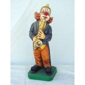 Clown mit Saxophon groß