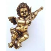 Engelputte hängend mit Violine gold