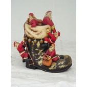 Weihnachtsmänner auf Nikolausstiefel klein