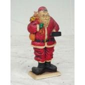 Weihnachtsmann mit Kerzenhalter klein 2D