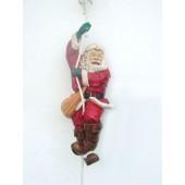 Weihnachtsmann kletternd klein