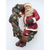 Weihnachtsmann im Adventskranz