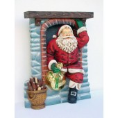 Weihnachtsmann kommt durch Kamin