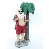 Weihnachtsmann unter Palme klein
