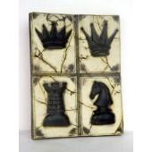 Schach Platte vierer Set