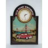 Oldtimer Werbeschild als Uhr