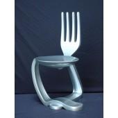 Löffel-Gabel Stuhl Silber