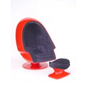 Eierhocker Rot (ohne Sessel)