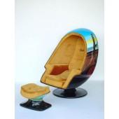 Eierhocker Dali-Bemalung (ohne Sessel)
