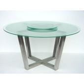 Runder Esstisch mit Drehplatte