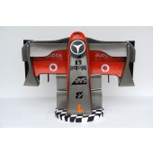 Formel 1 Nase mit Flagge Silber