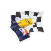 Formel 1 Nase mit Flagge Blau