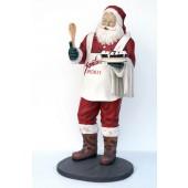 Weihnachtsmann mit Torte