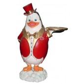 Pinguin als Butler